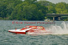 5.0 Liter Stock hydroplane Centsless 14 (CE-500) driven by Keith Joslyn on the course at the 2010 Syracuse Hydrofest  held at Onondaga Lake Park near Liverpool, New York on Saturday, June 19.