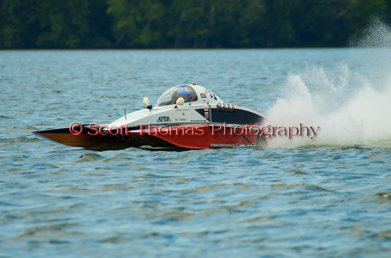 2.5 Liter Modified hydroplane Fat Chance (A-52) driven by  Tommy Thompson racing at the 2010 Syracuse Hydrofest held at Onondaga Lake Park near Liverpool, New York on Sunday, June 20.