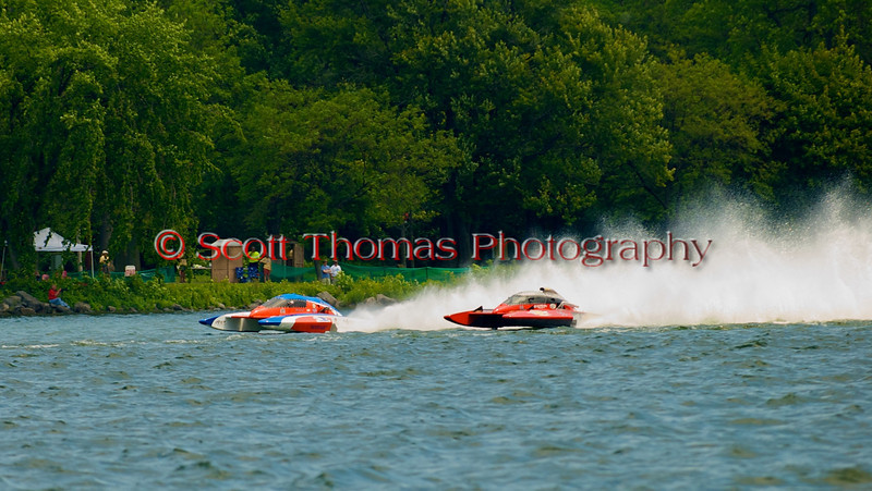 5.0 Liter Stock hydroplanes racing on Onondaga Lake at the 2010 Syracuse Hydrofest  held at Onondaga Lake Park near Liverpool, New York on Saturday, June 19.