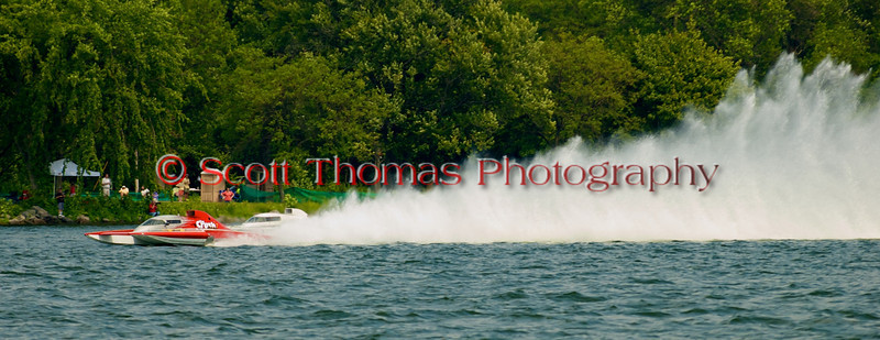 Grand Prix  hydroplane The Crush2 (GP-77) driven by Bert Henderson on the course at the 2010 Syracuse Hydrofest  held at Onondaga Lake Park near Liverpool, New York on Saturday, June 19.