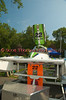 The 2.5 Liter Stock hydroplane, All-In (CS-22) sitting in the pits before the Syracuse Hydrofest 2010 held at Onondaga Lake Park near Liverpool, New York on Saturday, June 19.