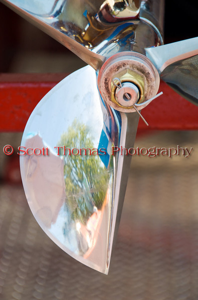 A propeller on an Inboard Hydroplane at the Syracuse Hydrofest 2010 held at Onondaga Lake Park near Liverpool, New York on Saturday, June 19.