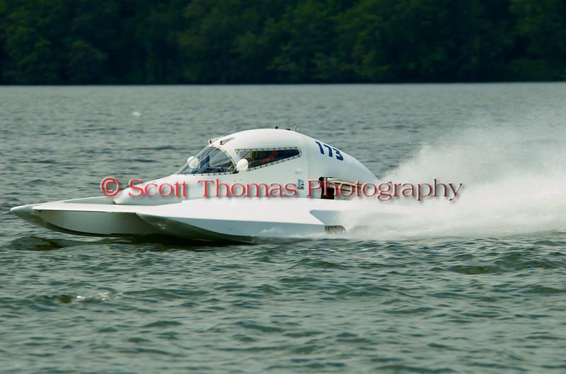 2.5 Liter hydroplane nnnnnn (CS-173) driven by mmmmmmmm racing at the 2010 Syracuse Hydrofest held at Onondaga Lake Park near Liverpool, New York on Sunday, June 20.