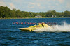 1.0 Liter Modified hydroplane Fast Eddie Too (Y-1) driven by Dan Kanfoush racing at the 2010 Syracuse Hydrofest held at Onondaga Lake Park near Liverpool, New York on Sunday, June 20.f