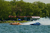 5.0 Liter Stock hydroplanes heading for the start line at the 2010 Syracuse Hydrofest  held at Onondaga Lake Park near Liverpool, New York on Saturday, June 19.