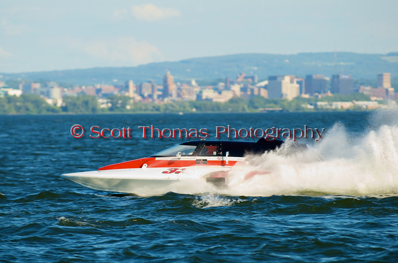 Grand National Hydro hydroplane nnnnnn (GNH-33) driven by nnnnnnnnnn racing at the 2010 Syracuse Hydrofest held at Onondaga Lake Park near Liverpool, New York on Sunday, June 20.