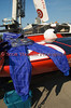 Driver safety suit worn by hydroplane racers at the Syracuse Hydrofest 2010 held at Onondaga Lake Park near Liverpool, New York on Saturday, June 19.