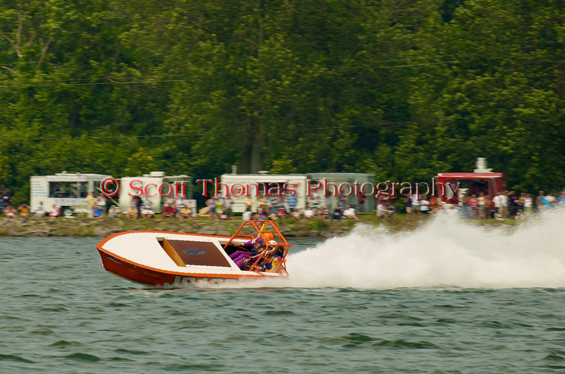 Jersey Skiff JS-100 on the course at the 2010 Syracuse Hydrofest  held at Onondaga Lake Park near Liverpool, New York on Saturday, June 19.