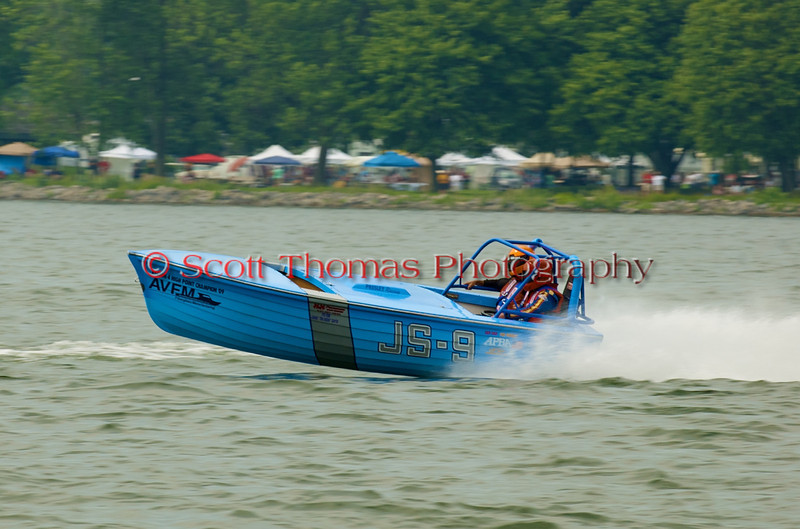 Jersey Skiff JS-9 on the course at the 2010 Syracuse Hydrofest  held at Onondaga Lake Park near Liverpool, New York on Saturday, June 19.