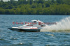 1.5 Liter hydroplane Shameless Say What? (T-1) driven by Brandon Kennedy racing at the 2010 Syracuse Hydrofest held at Onondaga Lake Park near Liverpool, New York on Sunday, June 20.