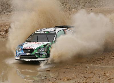 Gigi Galli, Ford Focus RS WRC07, water splash, SS16 Baptism Site.