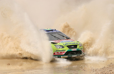 Jari-Matti Latvala, Ford Focus RS WRC07, water splash, SS16 Baptism Site 2.