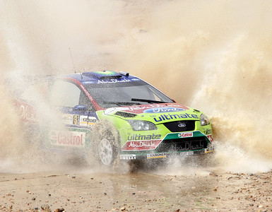 Miko Hirvonen, Ford Focus RS WRC07, water splash, SS16 Baptism Site 2.