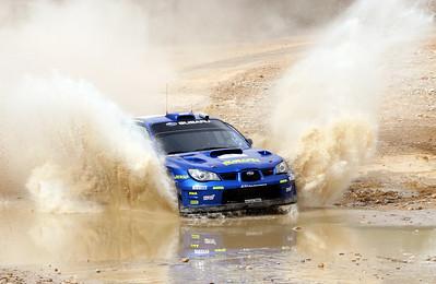 Chris Atkinson, Subaru Impreza WRC06, water splash, SS16 Baptism Site 2.