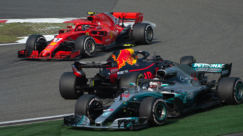 Hamilton / Verstappen / Raikkonan  Shanghai 2018
