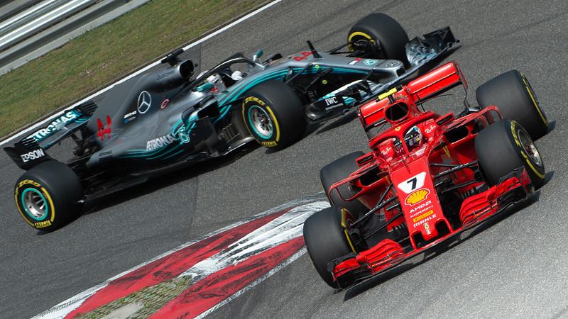 Raikkonen / Hamilton Shanghai 2018