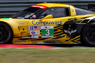 3 Corvette Racing Compuware Chevrolet Corvette C6 ZR1 drivers Jan Magnussen and Antonio Garcia