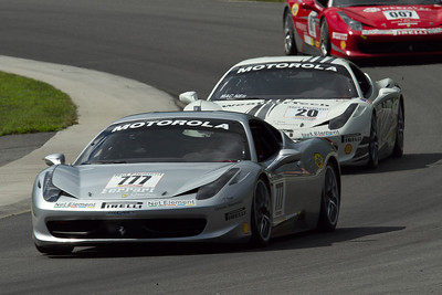 Winner of race 2 #777 Emmanuel Anassis (Montreal, QC) Ferrari of Quebec