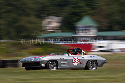 0223 Lakeville CT Aug. 31 2012 Historic Festival 30 car no 33 Tom Cotter Davidson, N.C. 1964 Chevy Corvette