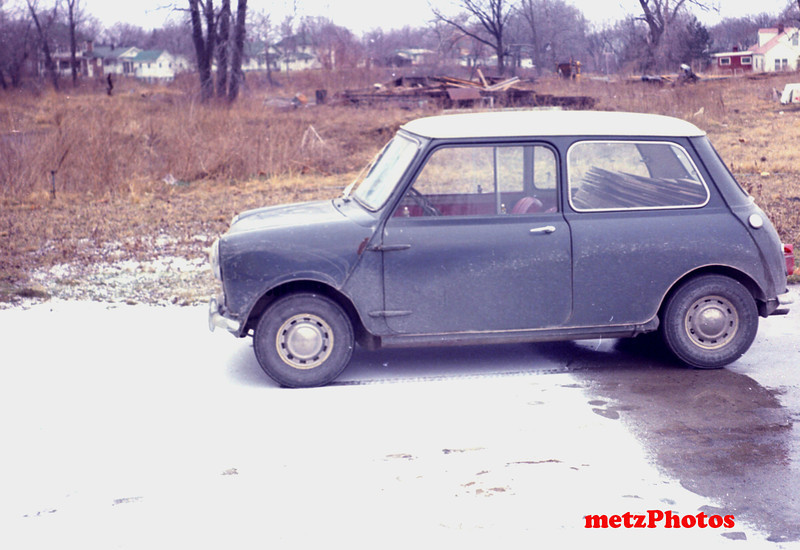 1961 Austin, 850 cc,  got it from my father , as he got it from Uncle Ted Wattron when they left to move to Florida.  I won some trophies in local solos in Elkhart, Indiana with it, but sold it to a high school kid for $150 in 1970, as I was going back to school for my masters,  we had too many cars to store, and the rear suspension was welded solid due to issues with it.  Interior was really clean.