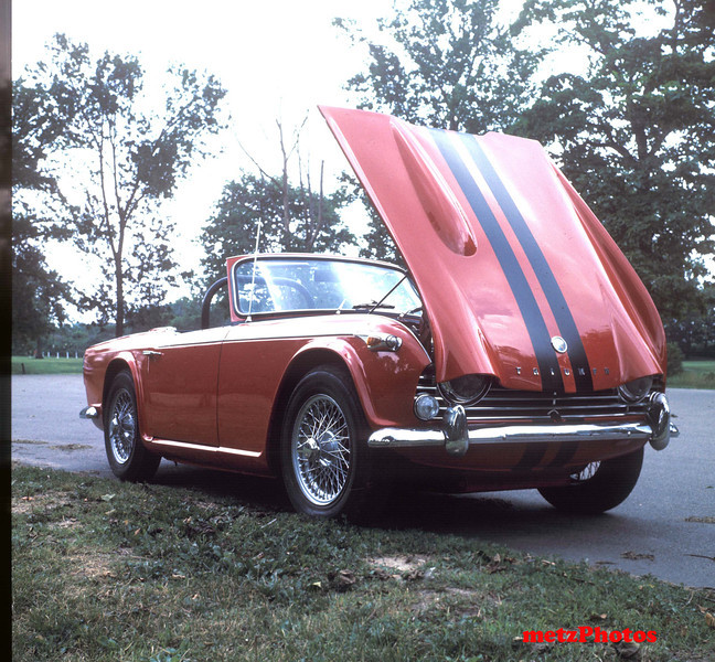 1967 Triumph TR-4A, owner since 1968......the photo taken in the 1970's at Garfield Park in Indy.