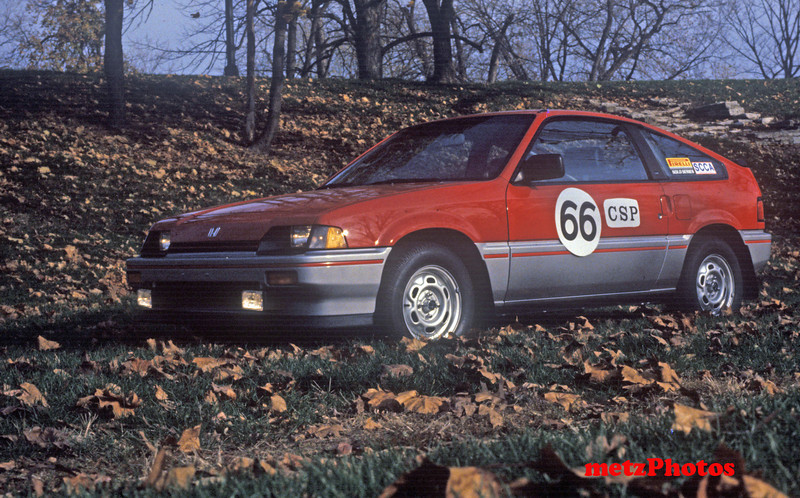 First CRX, owned from 1983 until 1990.  Sold when I purchased the new 1990 CRX SI.  I drove it in some local solo events, and Carolyn took it to nationals.  In hot weather it would get vapor lock and not start.  We put 115,000 miles on it.