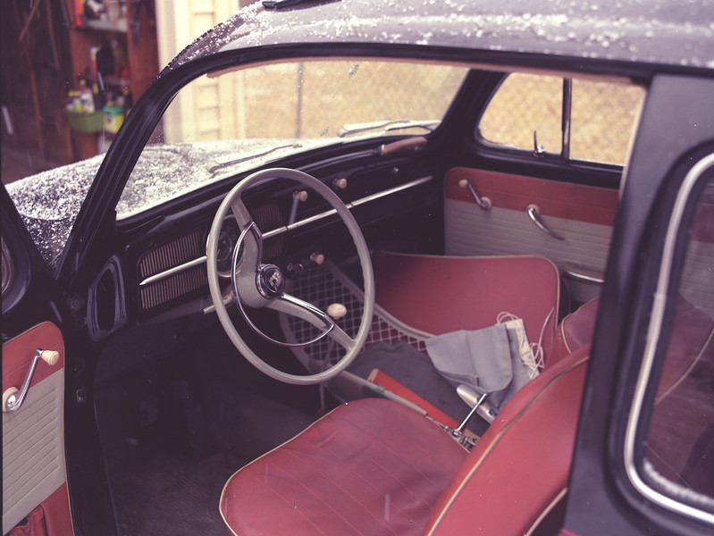 Interior of Dad's 1961 VW.