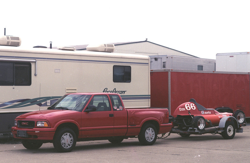 1997 new GMC Sonoma, 4 wheel drive.  That was at the Columbus active airport.