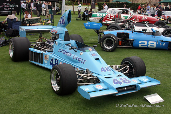 Gurney Eagle at Riverside International Raceway tribute at The Quail 2011