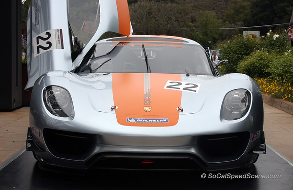 Porsche 918 at the Quail Lodge