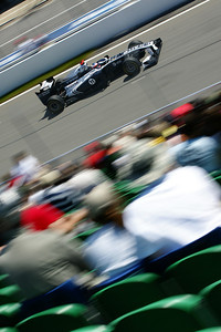 Rubens Barrichello speeds past the start-finish line in Friday Practice Session, Canadian Grand Prix, June 11, 2011.