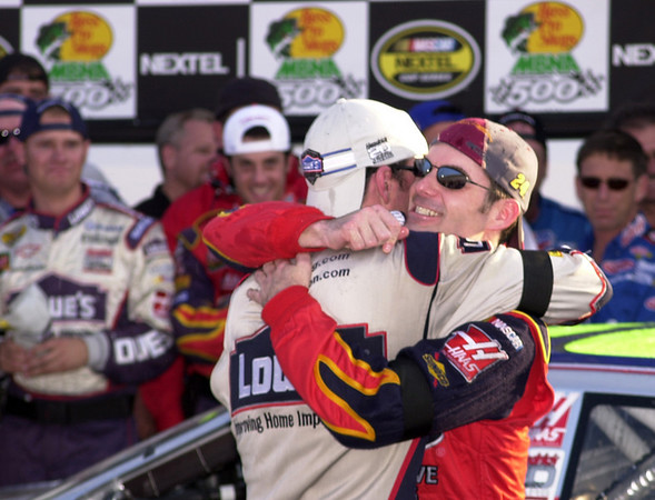 Victory Lane in Atlanta after the Hendrick plane crash the week before at Martinsville.