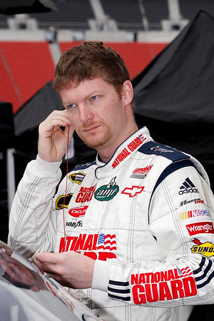 Dale Earnhardt Jr. gets ready to get in his car for practice.