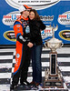 Jeff Burton and his wife Kim celebrate the win at Bristol.