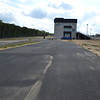 Entrance road, looking south, road course paddock behind camera