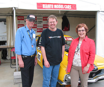 Trevor and Bev Young from Biante Model Cars, and me.