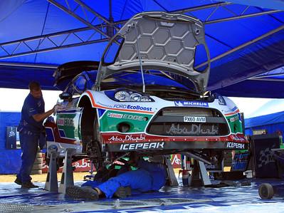 Jari-Matti Latvala, Ford Fiesta RS WRC, Service.