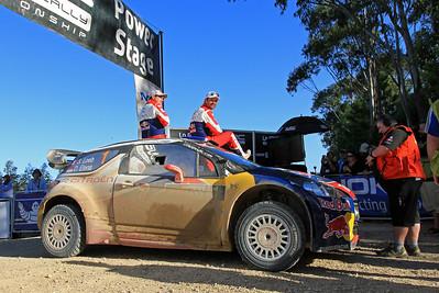 Sebastian Loeb, Citroen DS3 WRC, Power Stage finish, SS26 Clarence.