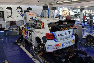 Sebastian Ogier, Volkswagen Polo WRC, Wednesday Service.