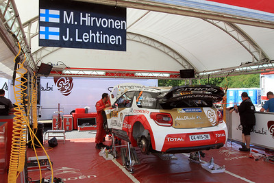 Mikko Hirvonen, Citroen DS3 WRC, Wednesday Service.
