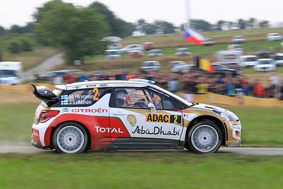 Mikko Hirvonen, Citroen DS3 WRC, SS9 Stein & Wein.