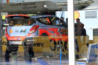 Hyundai 120 WRC (Dani Sordo), Trier Service Park.