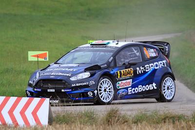 Elfyn Evans, Ford Fiesta WRC, SS01 Sauertal 1.