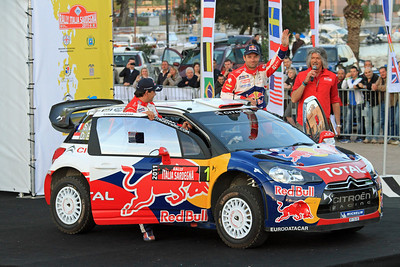 Sebastian Loeb, Citroen DS3 WRC, Ceremonial Start, Olbia.
