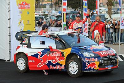 Sebastian Loeb, Citroen DS3 WRC, Ceremonial Start, Olbia.