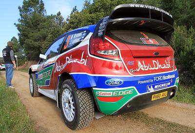 Miko Hirvonen, Ford Fiesta RS WRC, Shakedown.