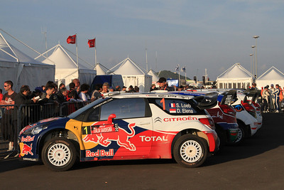 Sebastian Loeb, Citroen DS3 WRC, Parc Ferme (end of day 2).