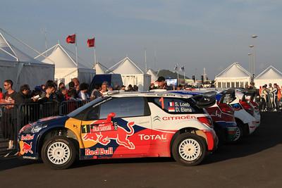 Sebastian Loeb, Citroen DS3 WRC, Parc Ferme (end of day 2).