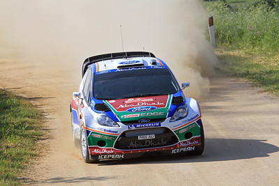 Miko Hirvonen, Ford Fiesta RS WRC, SS1 Lago Omodeo.