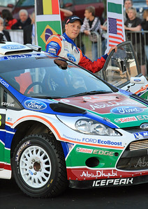 Miko Hirvonen, Ford Fiesta RS WRC, Ceremonial Start, Olbia.